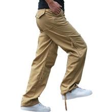 2017 High Quality Men's Cargo Pants Casual Mens Pant Multi Pocket Military Tactical Long Full Length Trousers 30-40 Plus measurement