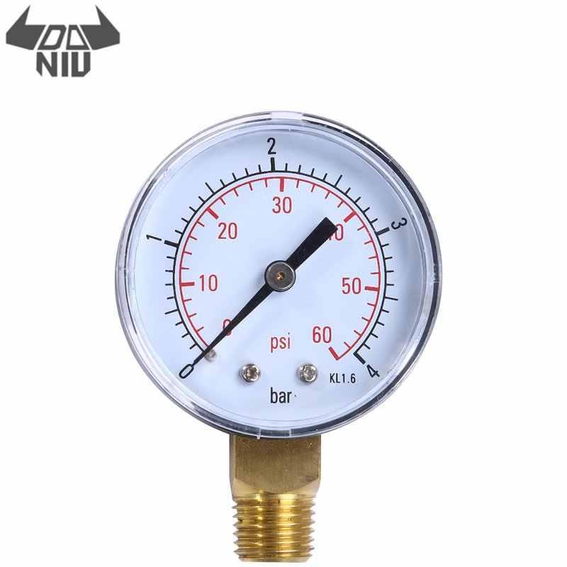 DANIU TS-50-4 قياس الضغط 0-4Bar 0-60PSI العملي بركة سبا فلتر مقياس ضغط الماء الجانب جبل 1/4 بوصة الأنابيب موضوع NPT