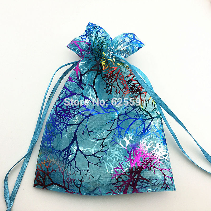 ᑐColor mágico Dados Bolsas azul transparente con rama de árbol ...