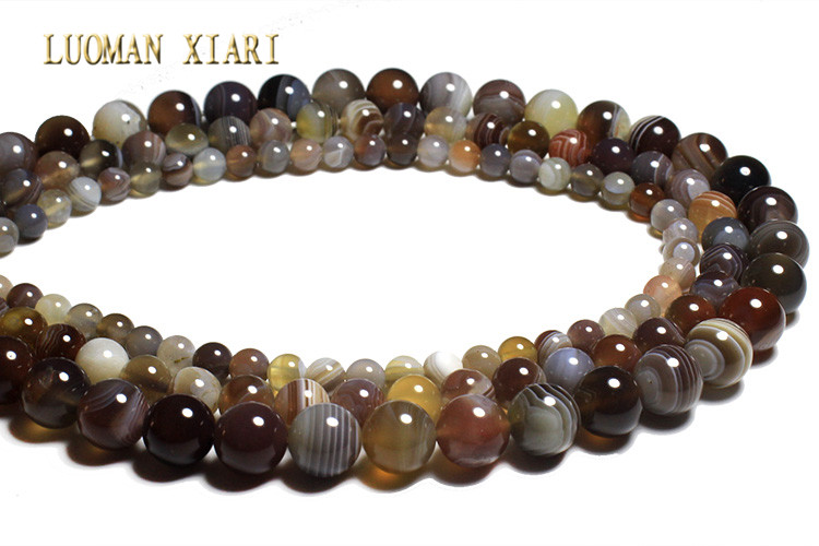 853341d973aa Luoman xiari natural AAA + fino persa Onyx ágata piedra perlas para joyería  hacer DIY pulsera collar 6 8  10mm Strand 15
