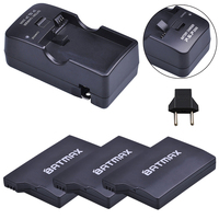 3Pcs 3.6V 2400mAh Batteries + Charger Kits for Sony PSP2000 PSP3000 Console