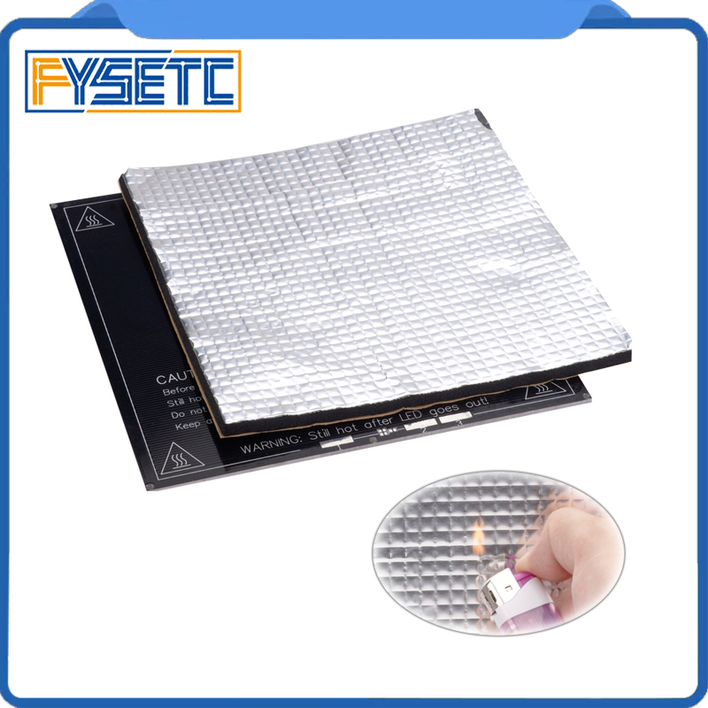 1PC Heating Bed Heat Insulation Cotton 200mm/300mm Foil Self-adhesive Insulation Cotton Sticker 10mm Thickness 3D Printer 1PC Heating Bed Heat Insulation Cotton 200mm/300mm Foil Self-adhesive Insulation Cotton Sticker 10mm Thickness 3D Printer