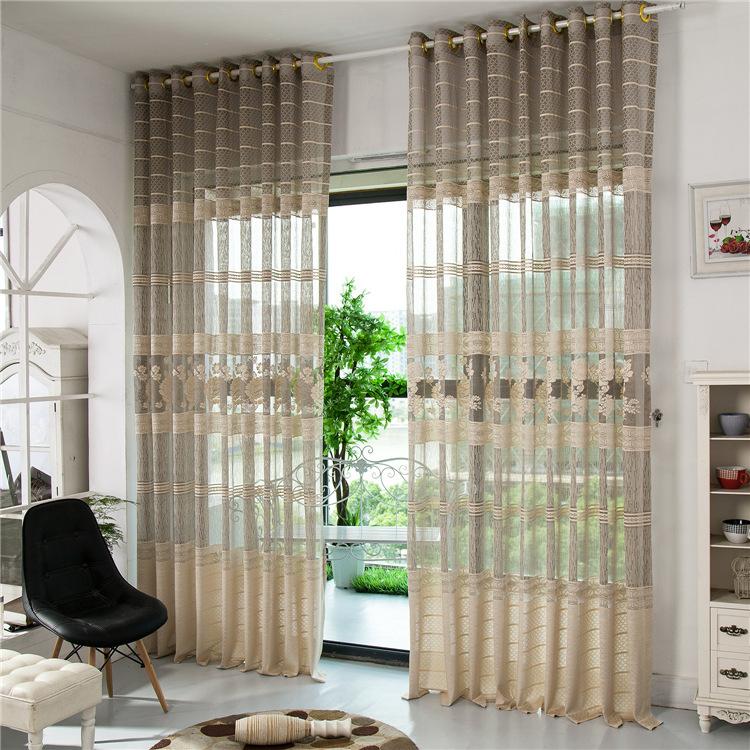 moda de nova chegada jacquard seleo da janela sombra de pura cortina cortinas de tule para