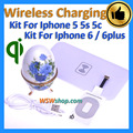 High Quality Qi Wireless Charger Kit For Iphone 5 5s 5c Wireless Charging For Iphone 6 6plus Qi Charger Transmitter + Receiver