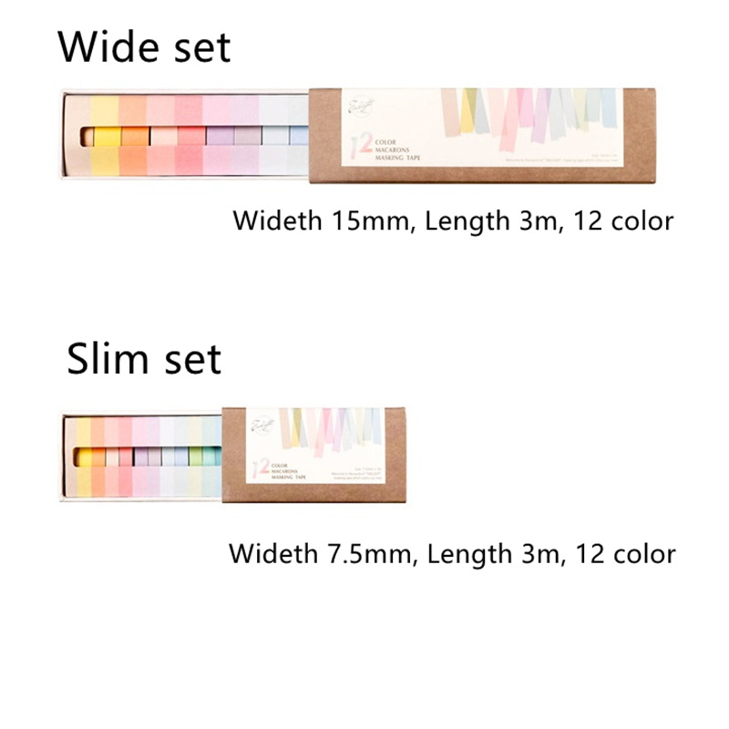 6 set/Lot Macaron color washi tape Decoration paper masking tapes Frame Diary book stickers scrapbooking School supplies A6804 12pcs lot vegetab fruit plant paper masking tape japanese washi tapes set 3cm 5m stickers kawaii school supplies papeleria 7161