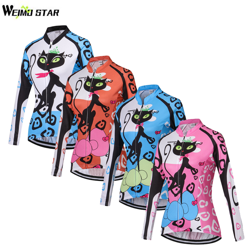 WEIMOSTAR Team Cat Womens Cycling Jersey Ropa Ciclismo Bicycle - Cycling