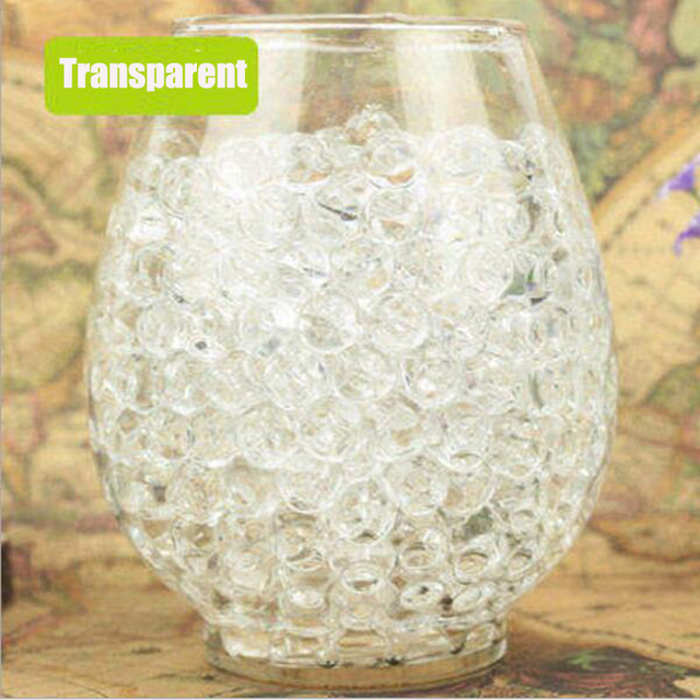 ZHUTOUSAN 1000pcs Clear Crystal Soil Water Beads For Home Garden Flowers Soilless Culture Substrates hydrogel gel Balls