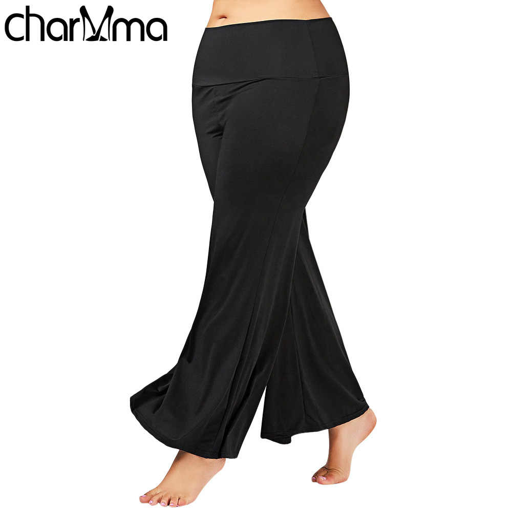 Women Summer Wide Leg Long Pants Casual Loose Palazzo Trousers Plus Size  Maxi Palazzo Pants 3XL d8ea65d990b7