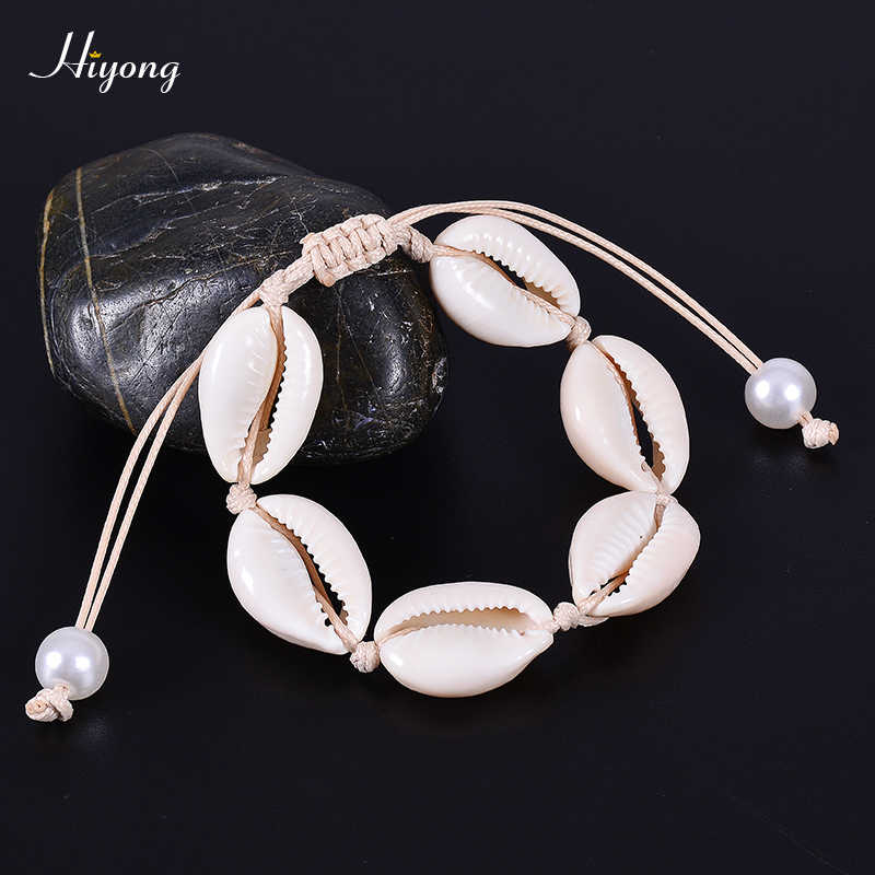 Pearl bracelet Cowrie shell bracelet Girl bracelet Beach bracelet Seashell bracelet Waterproof bracelet Beaded bracelet
