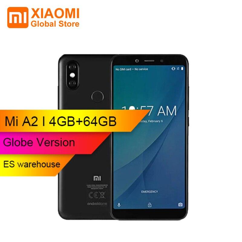 Version mondiale Xiao mi mi A2 téléphone Snapdragon 660 Octa Core4GB 64 GB 5.99