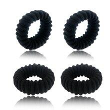 4pcs lot Women Scrunchie Rubber Wide Thick Hair Rope Elastic Hair Bands  Girls Hair Ties e4439ada019