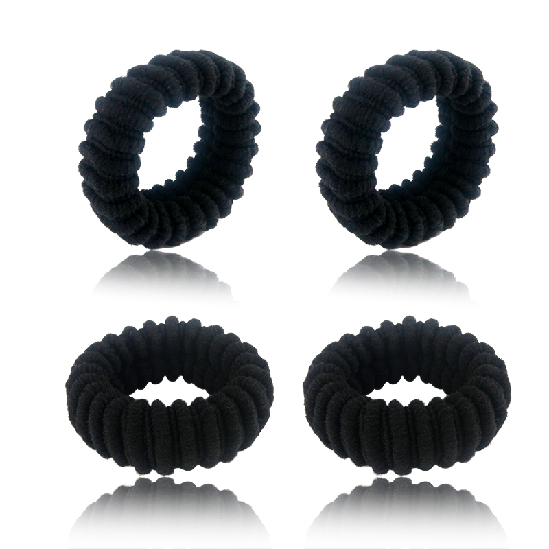 4pcs/lot Women Scrunchie Rubber Wide Thick Hair Rope Elastic Hair Bands Girls Hair Ties   Headwear   Hairband Ponytail Hair Holders