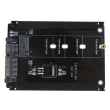 NUOVA Cassa Del Metallo B chiave M.2 NGFF SSD DA 2.5 SATA 6 Gb/s Adattatore Connettore di Alimentazione Carta Eith Box Presa m2 NGFF Adattatore