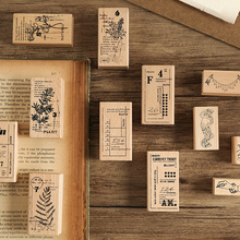 Cute Plant between series wooden rubber stamps for scrapbooking stationery DIY scrapbooking wooden stamp 25pcs set diary pattern wooden box stamp rubber lovely cute diy writing scrapbooking stamp gift clear stamps for scrapbooking