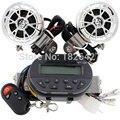 1 Conjunto Preto À Prova D' Água Speaker 12 V Motocicleta mp3 moto veículo Amplificador de rádio FM de suporte SD/MMC
