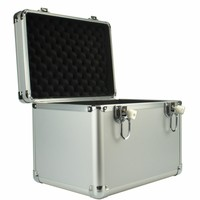 220x220x200mm Aluminum Tool case suitcase File box Impact resistant safety camera instrument case Outdoor Safety Equipment
