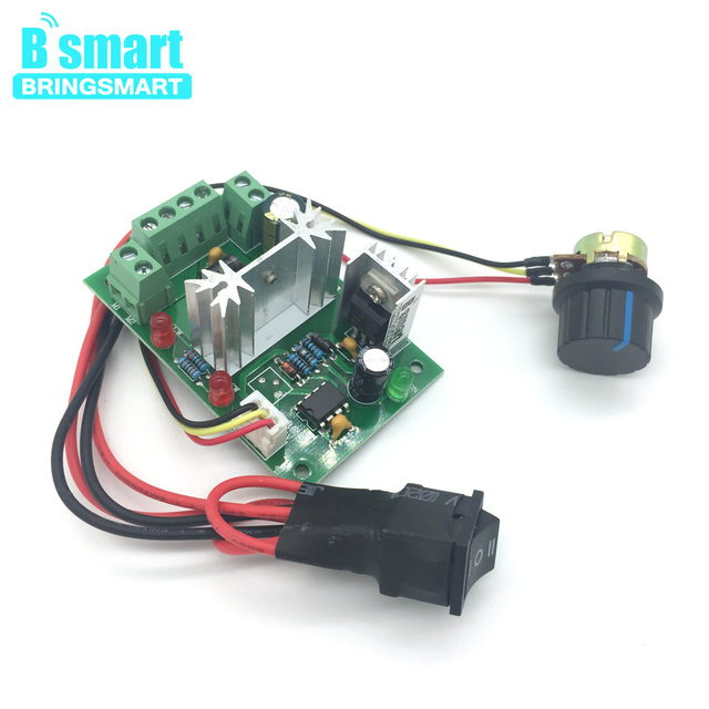Bringsmart CCM6N DC PWM Motor Speed Controller 6V-30V Variable Speed Drive 6A Positive Inversion Mini Switch Controller