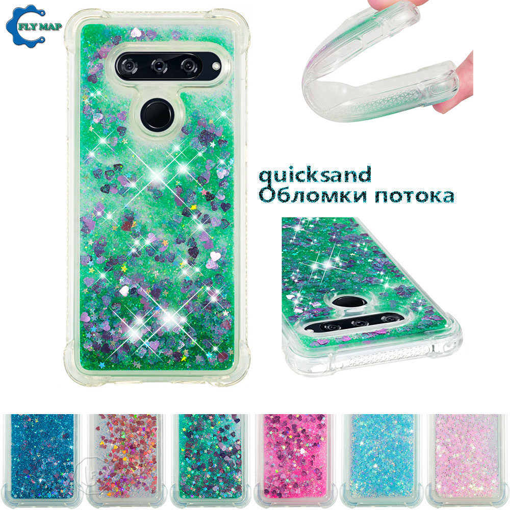Fitted Cases Phone Bags & Cases Beautiful Glitter Stars Cover For Lg V40 Thinq Lgv40 V405qa Lm-v405qa Lmv405qa V405ta Lm-v405ta V405ua Liquid Quicksand Soft Tpu Back Case Traveling