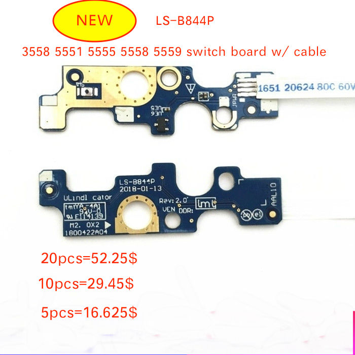Computer & Office Pc Nanny Buy Original For Dell V3560 Power Switch Button On Off Board & Cable Ls-8255p Works