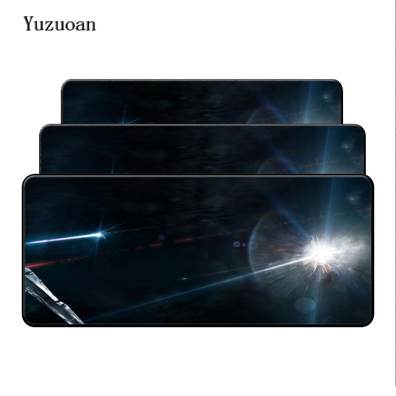 Yuzuoan Space Bright Large Rubber Overlock Edge 90x40mm Desk Mouse Mat Cushion of the Portable mouse pad printing Game keyboard