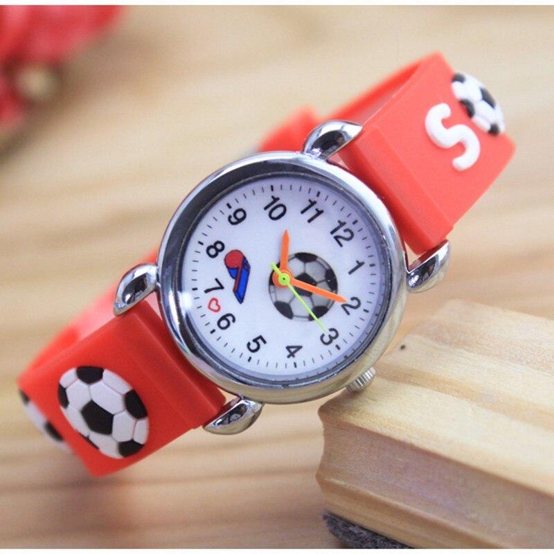 2018 Children 3D Cartoon Watch Football Children Silicone Watches Quartz Fashion Kids Child Wrist Wristwatches Relogio Kol Saati