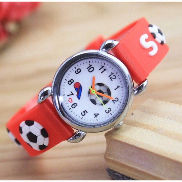 2018 Children 3D Cartoon Watch Football Children Silicone Watches Quartz Fashion