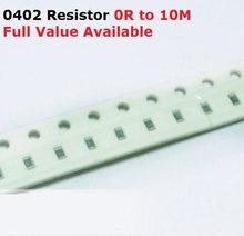 500 91 pçs/lote SMD Chip de Resistor de 0402 K/100 K/110 K/120 K/130 K/5% Ohm Resistência 91/100/110/120/130/K Resistores Frete Grátis