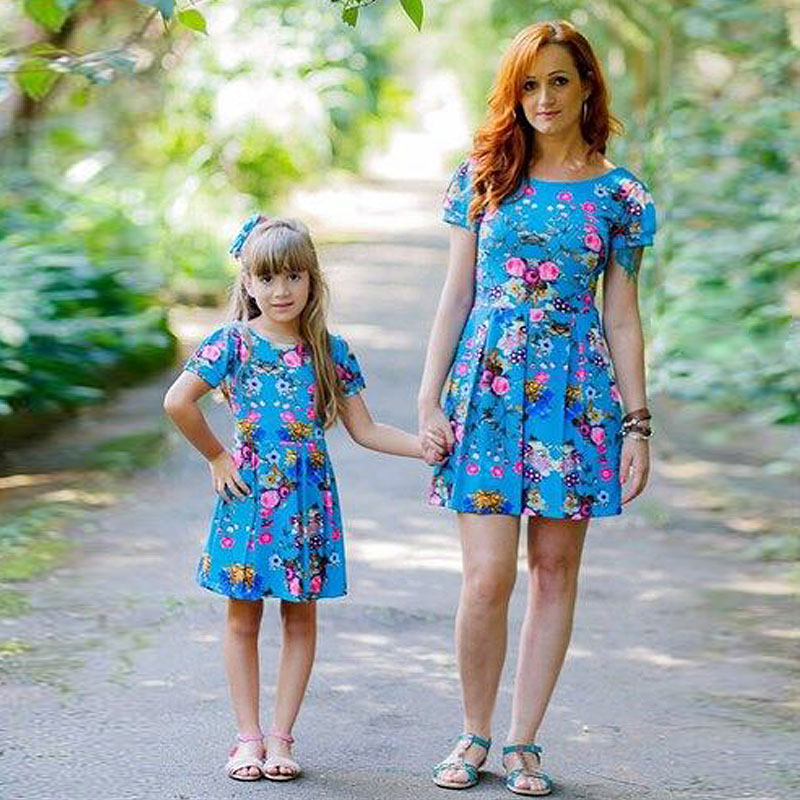 Family matching outfits 2017 mother daughter dresses ...