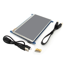 Wholesale 7 Inch 800 x 480 HDMI Capacitive IPS LCD Module 5 Point Touch Screen For Raspberry Pi 3 Model B / 2B / B+HDMI Cable+USB Cable