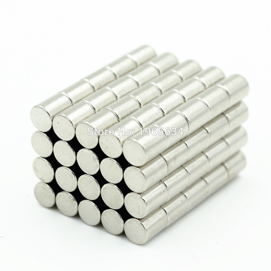 Retail Wholesale 2000pcs 3mm x 4mm Disc Rare Earth Neodymium Super Strong Magnets N35 Craft Model