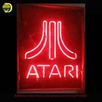 ATARI Neon Light Sign Real Glass Tube Handcraft Neon Bulbs Recreation Room Garage Wall Display Neon