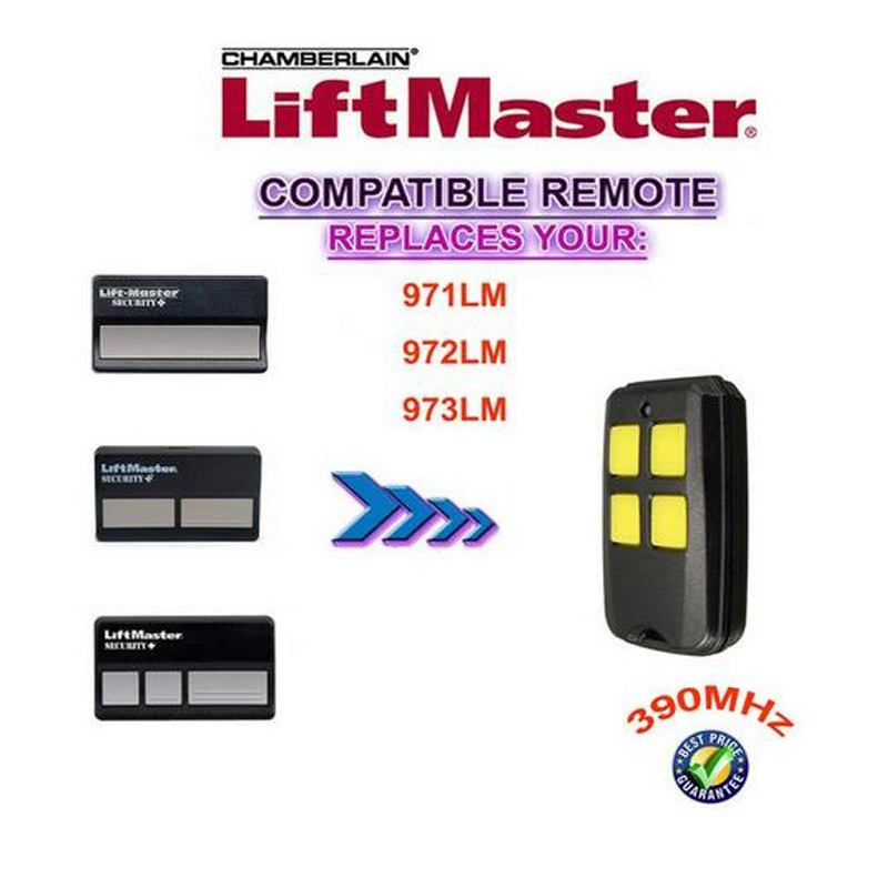 50pcs FOR 390mhz For Liftmaster garage door remote control 971LM/972LM/973LM /139.53681B/13953180 free shipping50pcs FOR 390mhz For Liftmaster garage door remote control 971LM/972LM/973LM /139.53681B/13953180 free shipping