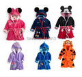 Free shipping  Boys and girls suits children bathrobe robe bathrobe home two color clothing
