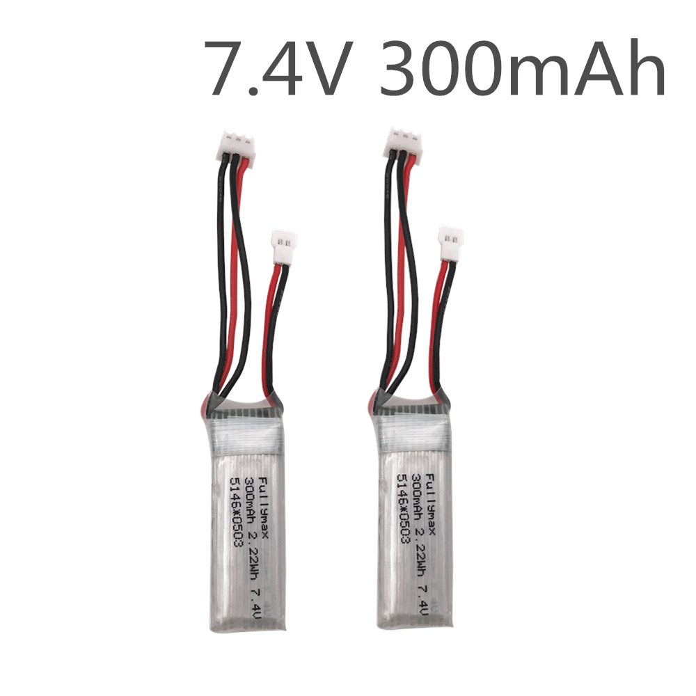2pcs/ 7.4V 300mAh 30c Li-Po Battery For WLtoys F959 Airplane Spare Parts XK DHC-2 A600 RC Airplane