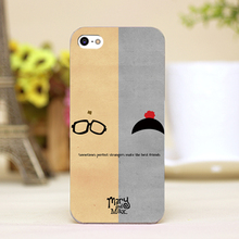 Girl and Boy Design Customized cellphone transparent case cover for iphone cases for iphone 4 5