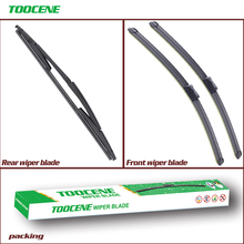 Front And Rear Wiper Blades For FIAT Idea 2008-2012  Rubber Windscreen Windshield Wipers Car Accessories 23+15+14 oge front and rear wiper blades for fiat 500 2007 2016 windscreen windshield natural rubber car accessories