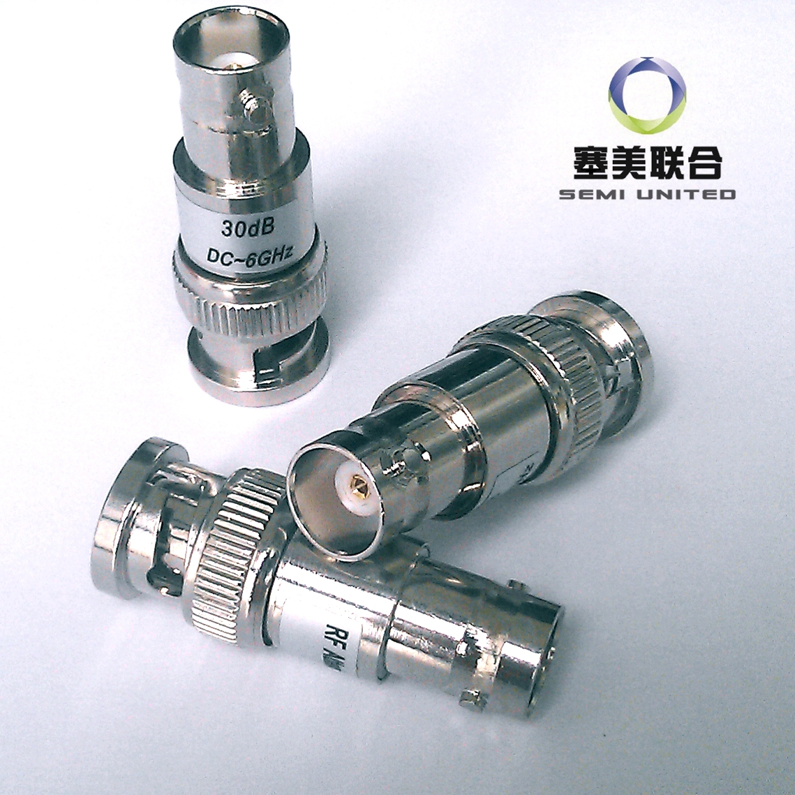 Q9/BNC Coaxial Fixed Attenuator ATT:1-30dB; Frequency: DC-3GHz, 6GHz; 2W цены