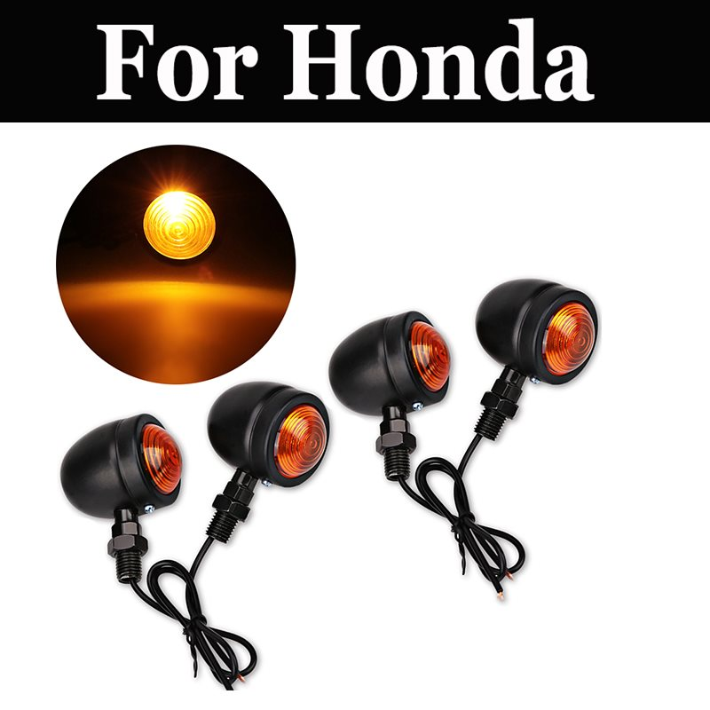 4pcs/Set Motorcycle Universal Turn Signal Indicator Lights For Honda Vt 1100c 600c 600cd 750 750dc 1100c 125 400 600c 750