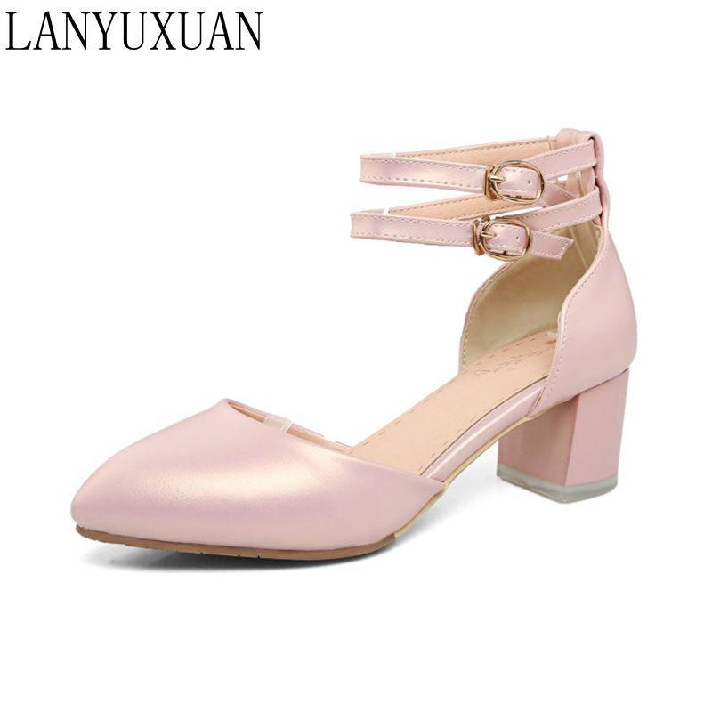 LANYUXUAN Sweet Fashion Sale new sale Big Small Size 32-43 Shoes Woman Sandals Platform Feminino Summer Style women Pumps 519-2 lanyuxuan 2017 new hot big