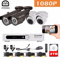 Mother S Day Eyedea DVR 8 CH Phone Monitor 1080P Bullet Dome Outdoor LED Night Vision