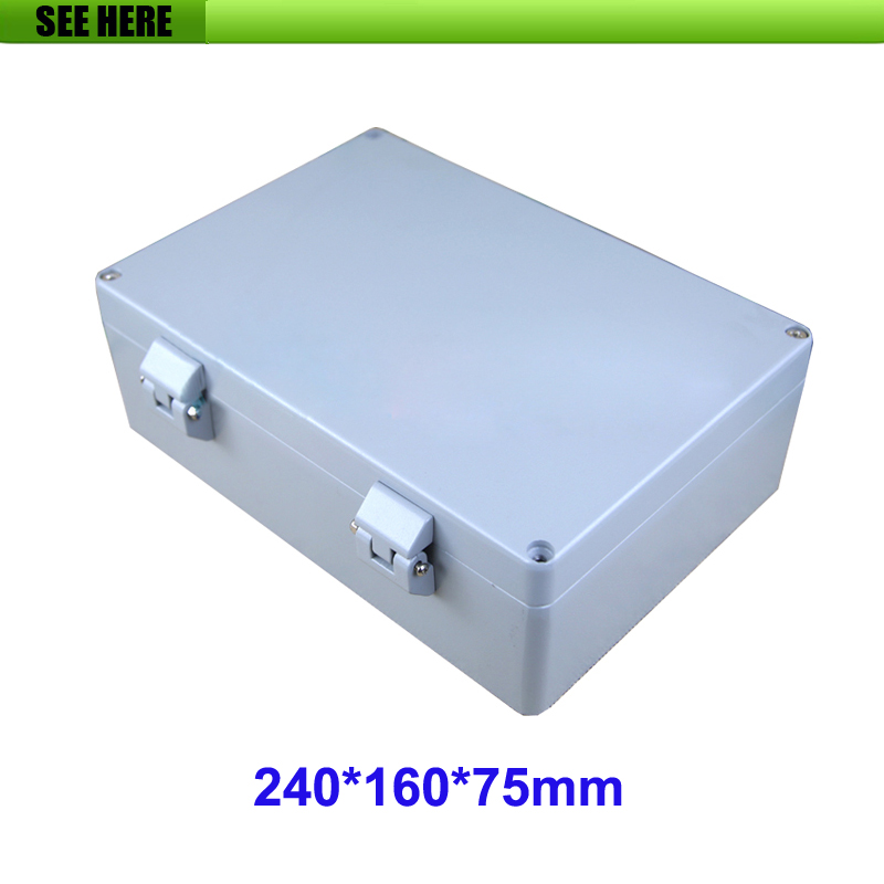 Electronic Junction Box Aluminium Enclosure Instrument Case Waterproof Electrical 240*160*75mm factory supply waterproof and dustproof ip67 waterproof electrical junction boxes 160 160 70mm