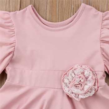 Lace Geometry Dress For Girls 4