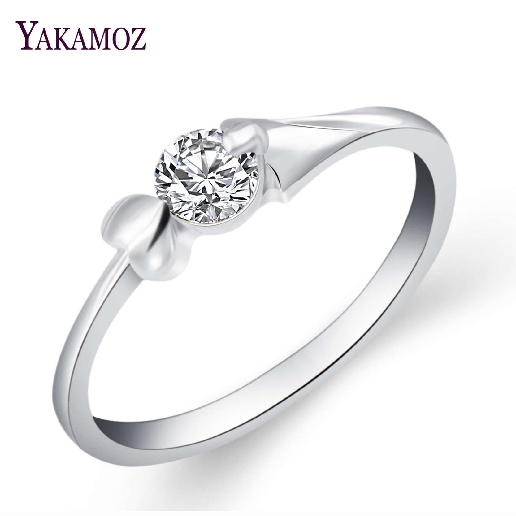 new vintage rings sliver color round cut white crystal cubic zirconia new engagement ring for women - Where To Sell Wedding Ring