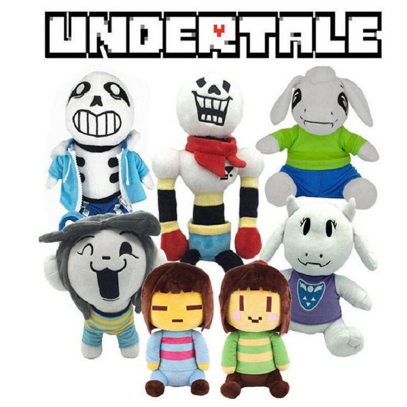 On Sale 7pcs/set New Undertale Plush Toys 20-40cm Frisk Sans