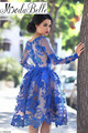 Lace Royal Blue Short Long Sleeve Homecoming Dresses 2016 Tight Homecoming Dresses Keen Length Semi Formal Homecoming Dresses