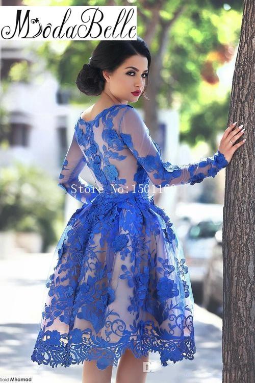 Popular Long Sleeve Homecoming Dresses-Buy Cheap Long Sleeve ...