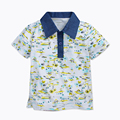 Fashion Children's T-shirt Denim Turn-down Collar Short Sleeve Shirts Summer Kids T-shirt for A Boy Cotton Boys Tops 1-6 Yrs