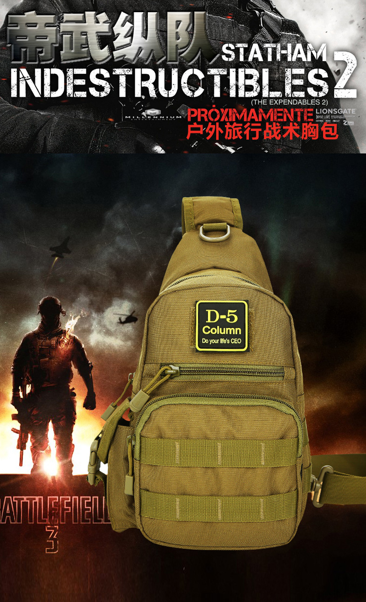 Outdoor Military Tactical Assault Pack Army Waterproof big Chest bag sports climbing Hiking Camping Hunting Nylon Backpack