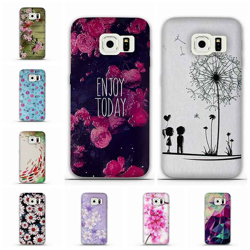 For Samsung Galaxy S6 Edge Etui Fundas Telefoon Hoesjes For Coque Samsung S6 Edge Case Cover Silicone Case 3D Relief Capa