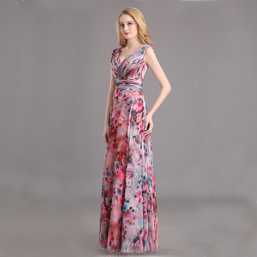 da033faeb Abiti Eleganti Con Scollo A V ~ Abiti da cerimonia lunghi a fiori ke  regardsdefemmes